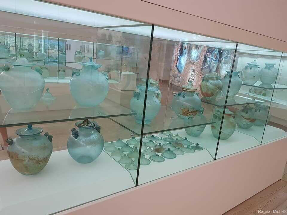 musée du verre à zadar flacons et amphores