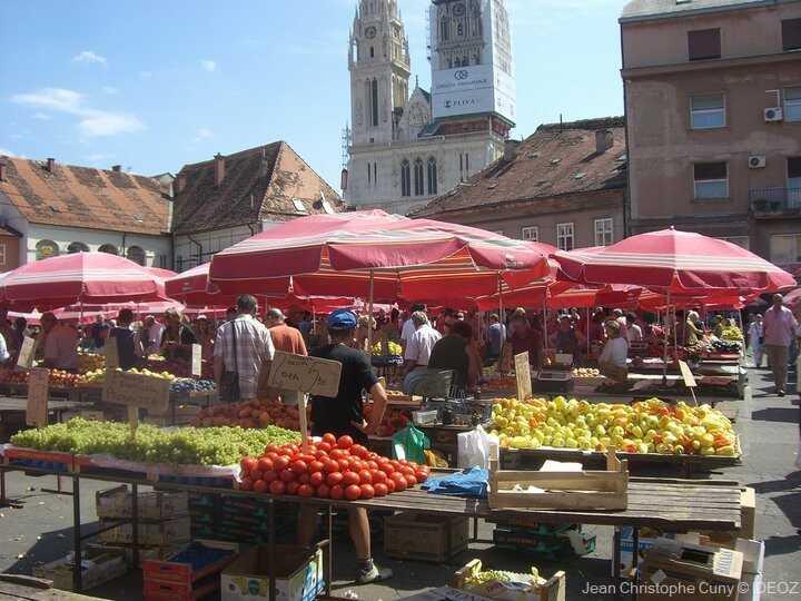 marché de dolac à Zagreb
