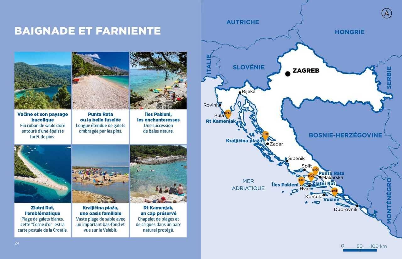 page thématique farniente et baignade en croatie dans le guide voyage simplissime