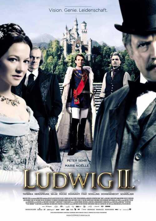 affiche du film ludwig ii de peter sehr et marie noelle production des studios bavaria