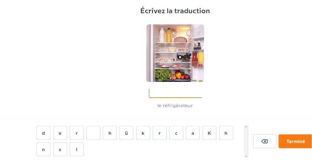 apprendre l'allemand avec babbel recomposition des mots à partir des lettres