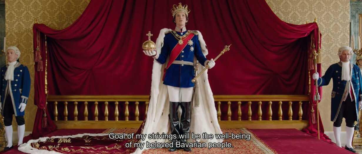 film Ludwig II couronnement du roi