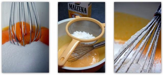 fouetter les jaunes d'oeuf et ajouter la maizena