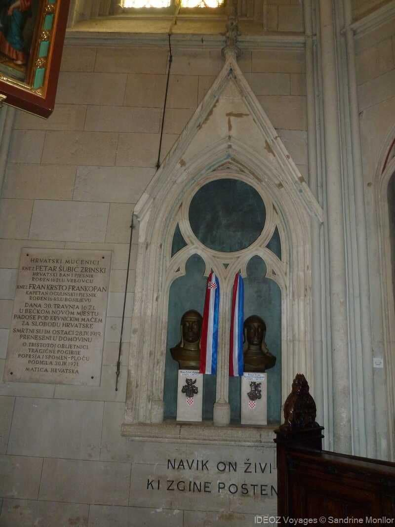 hommages à des personnages croates célèbres à zagreb dans la cathédrale