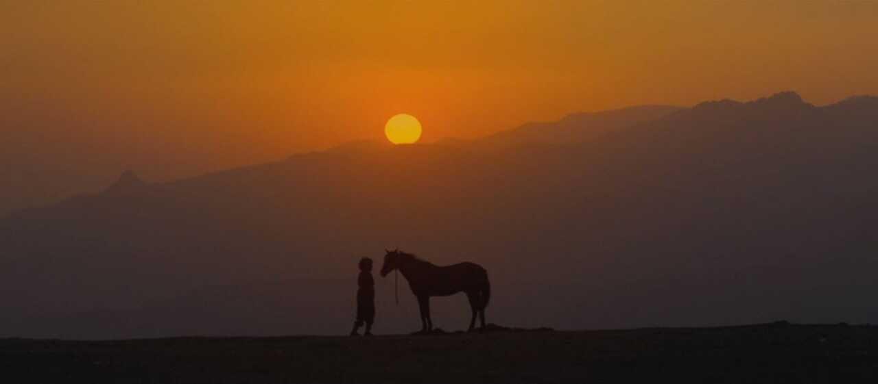 mucize aziz et son cheval-dans les paysages d'anatolie