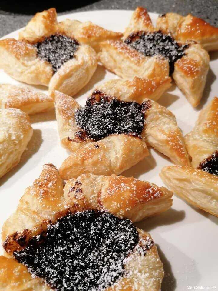 joulutortut tartelettes feuilletées finlandaises à la marmelade de pruneaux