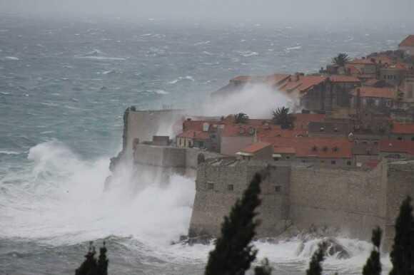 tempête de bura à Dubrovnik