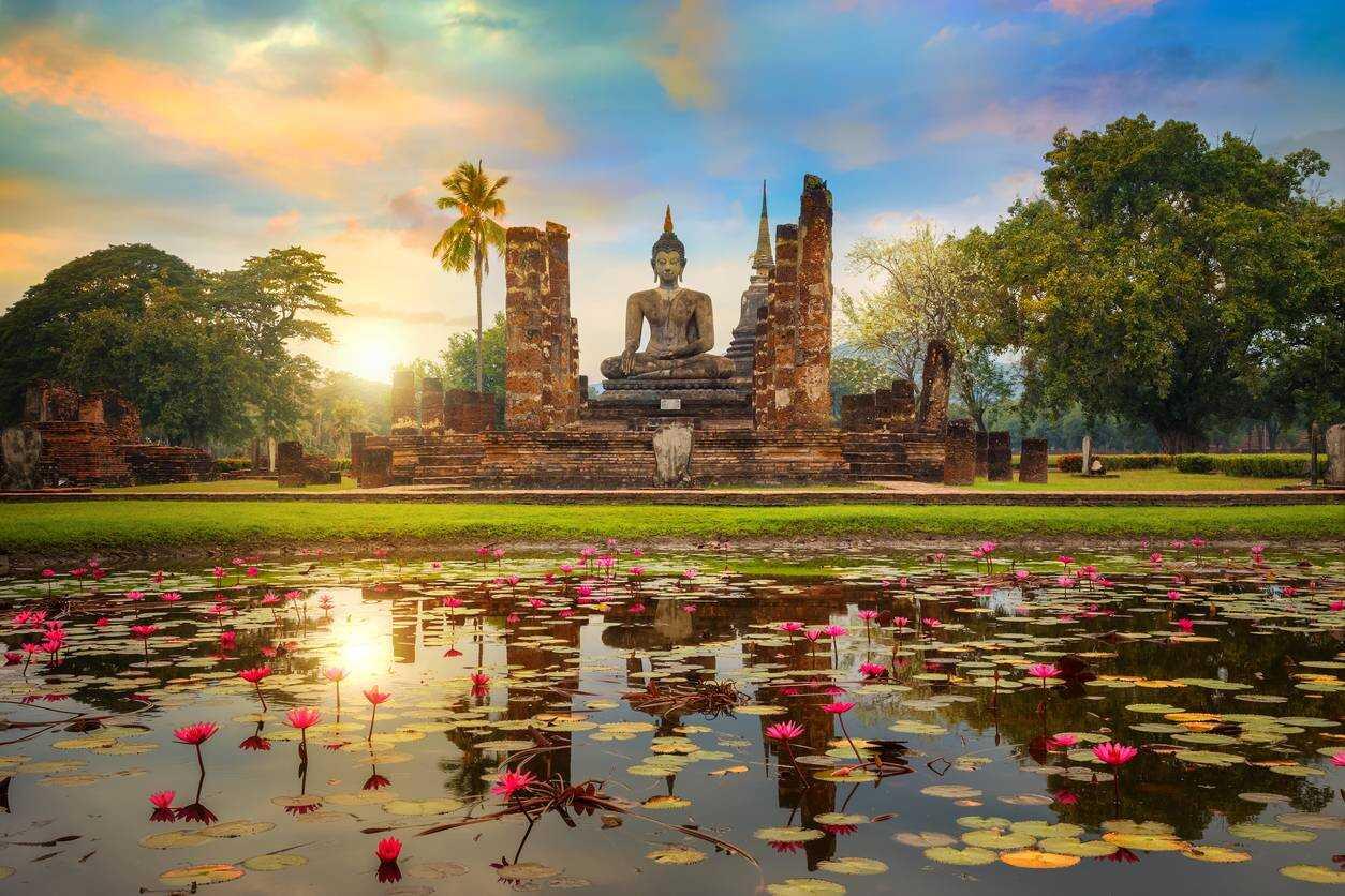cité ancienne de Sukhothai Thailande