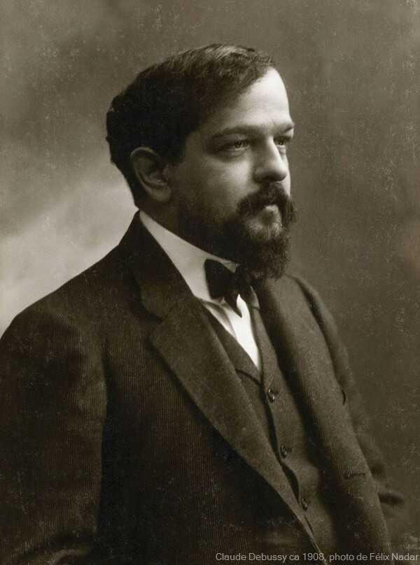 Claude Debussy ca 1908, photo de Félix Nadar