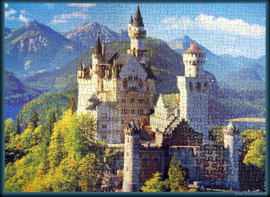 chateau neuschwanstein en puzzle