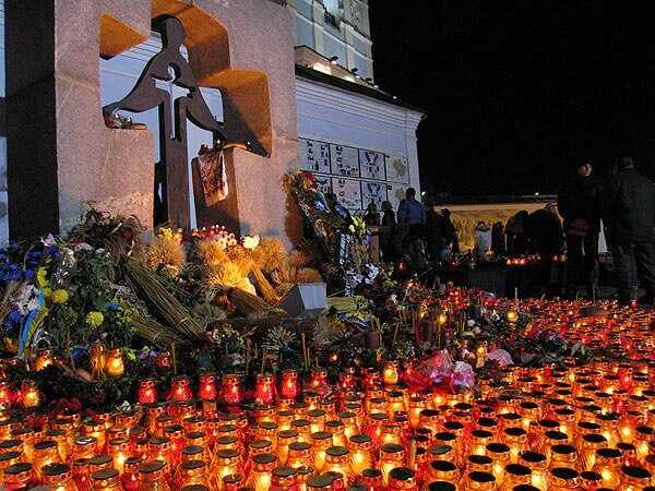 commémoration de l'holodomor en ukraine