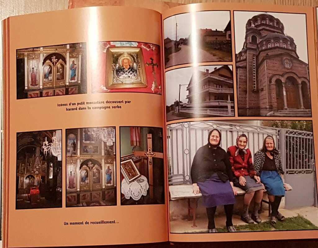 page d'un livre photo sur la serbie