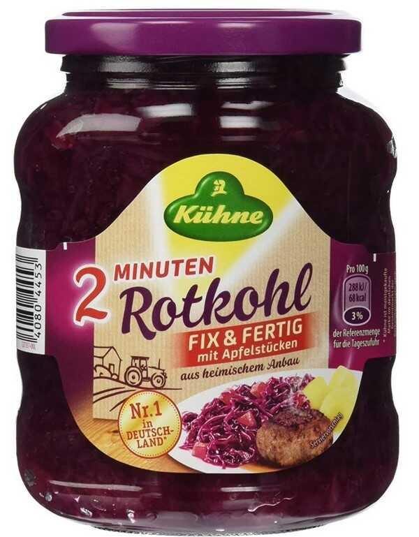 bocal chou rouge allemagne rotkohl kühne