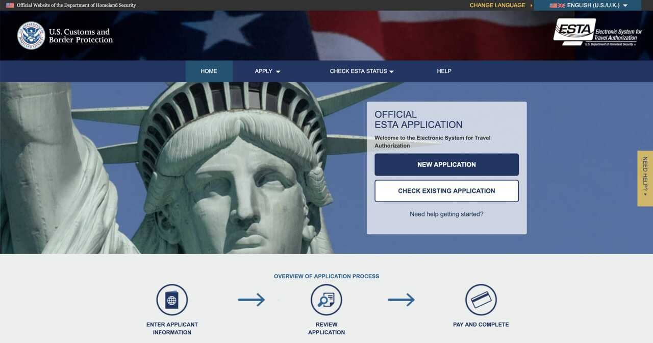 ESTA USA Electronic System for Travel Authorization