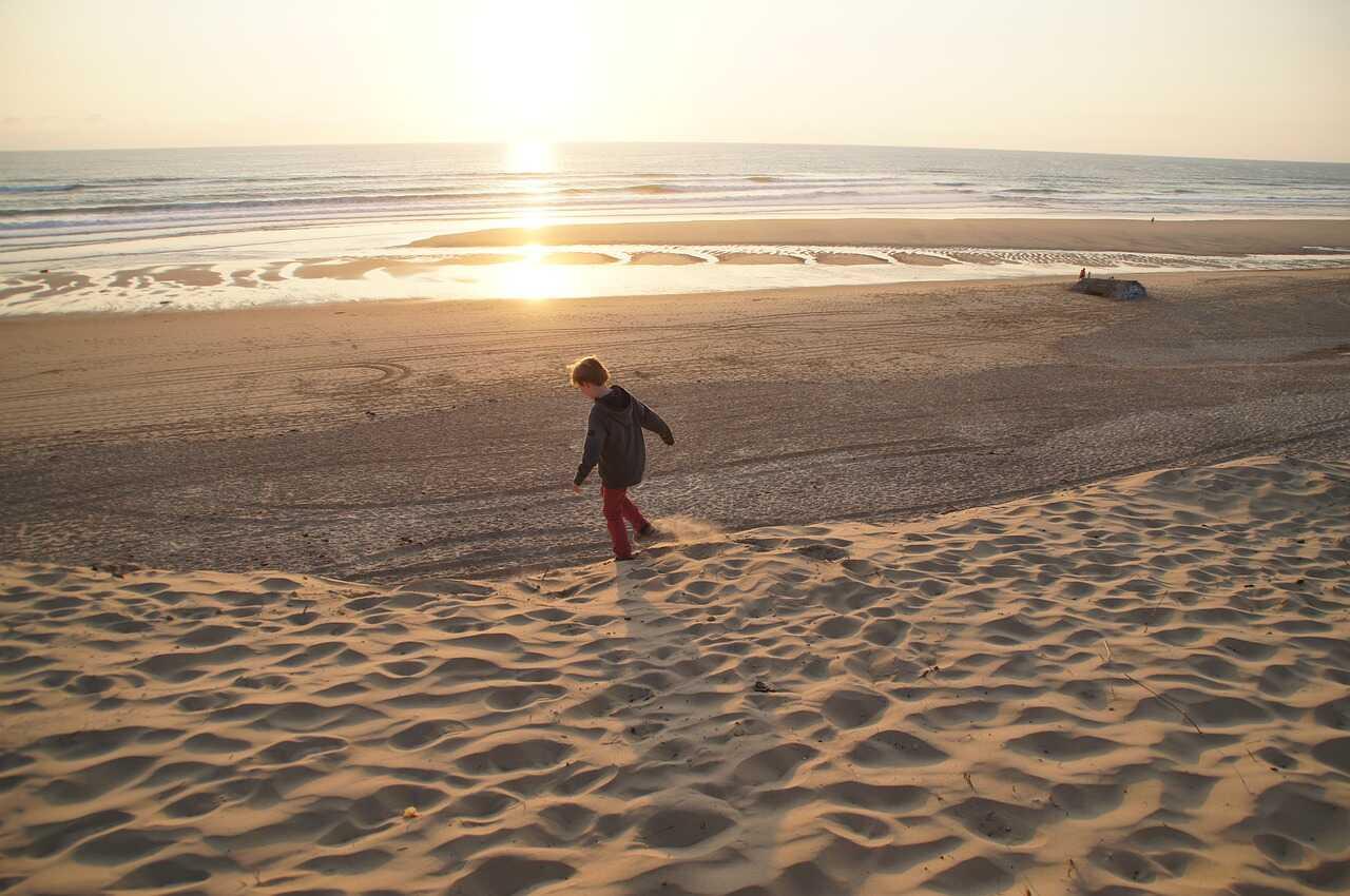 plage de sable de biscarosse