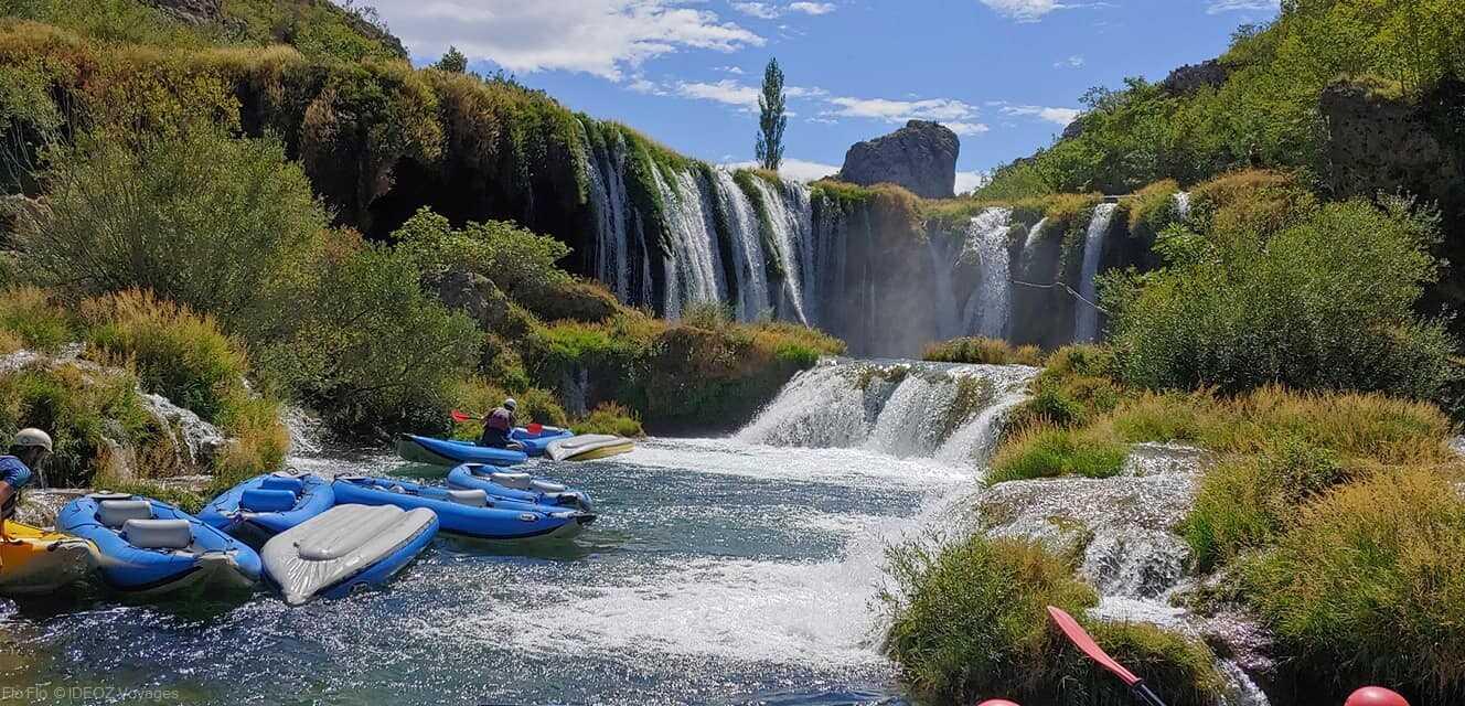 rafting sur les chutes de zrmanja en dalmatie