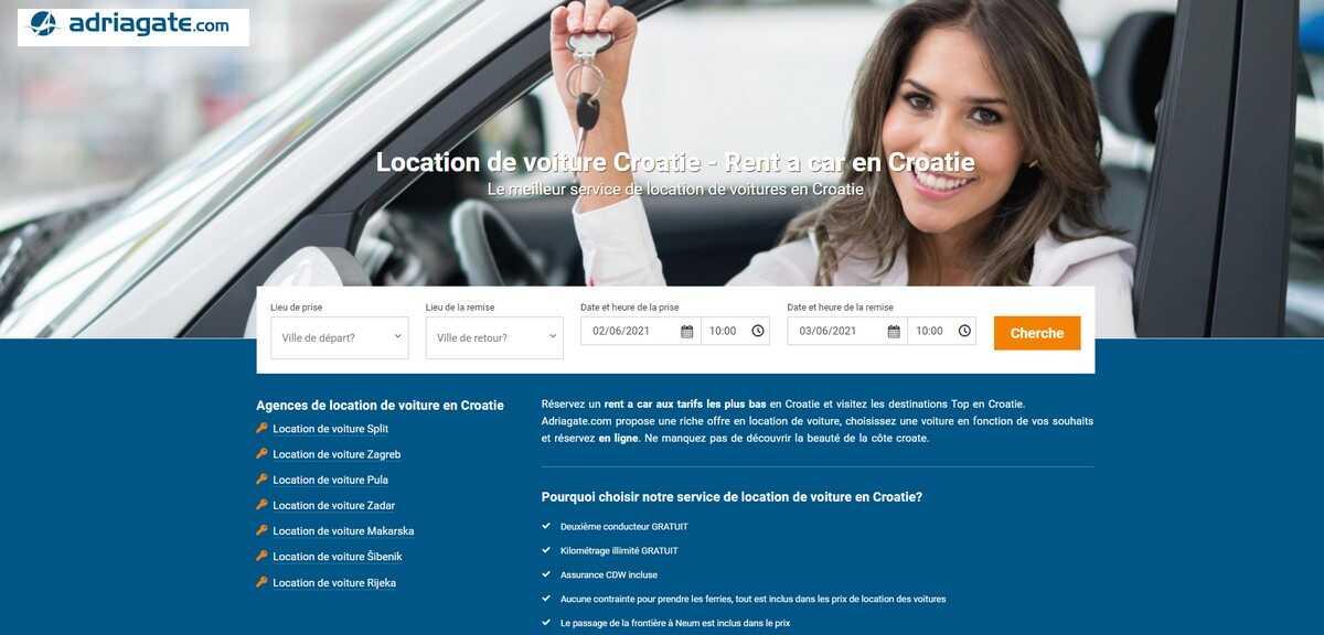 adriagate location de voiture