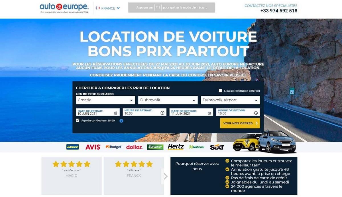 location de voiture à bon prix avec autoeurope