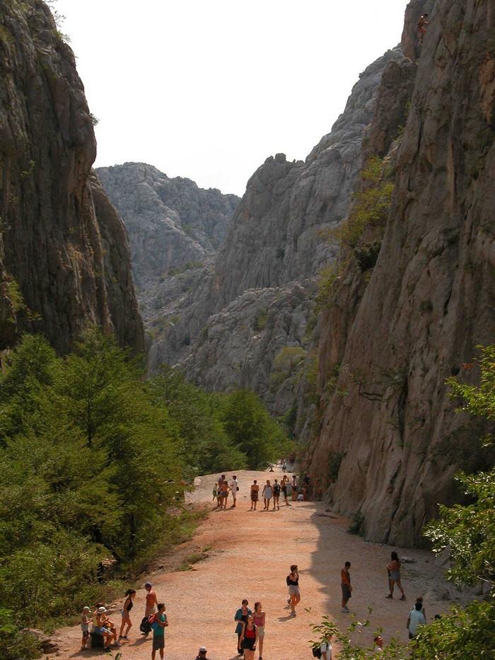 entrée du grand canyon de paklenica