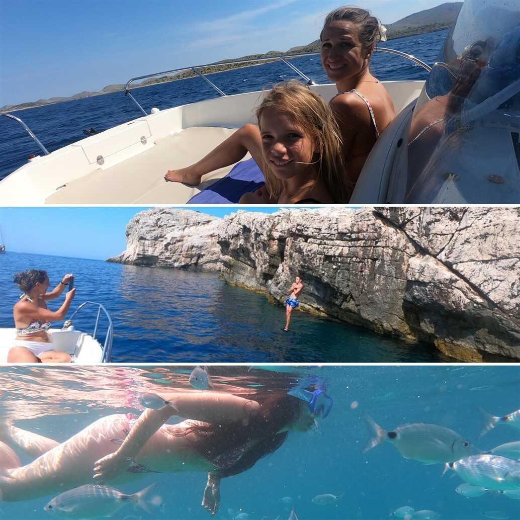 kornat snorkeling et saut de falaise dans l'archipel des kornati