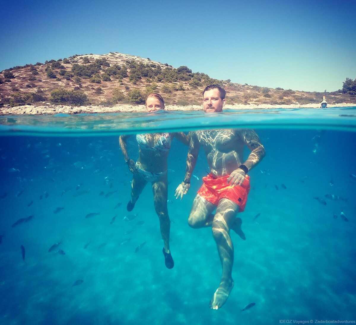 snorkeling dans les iles kornati