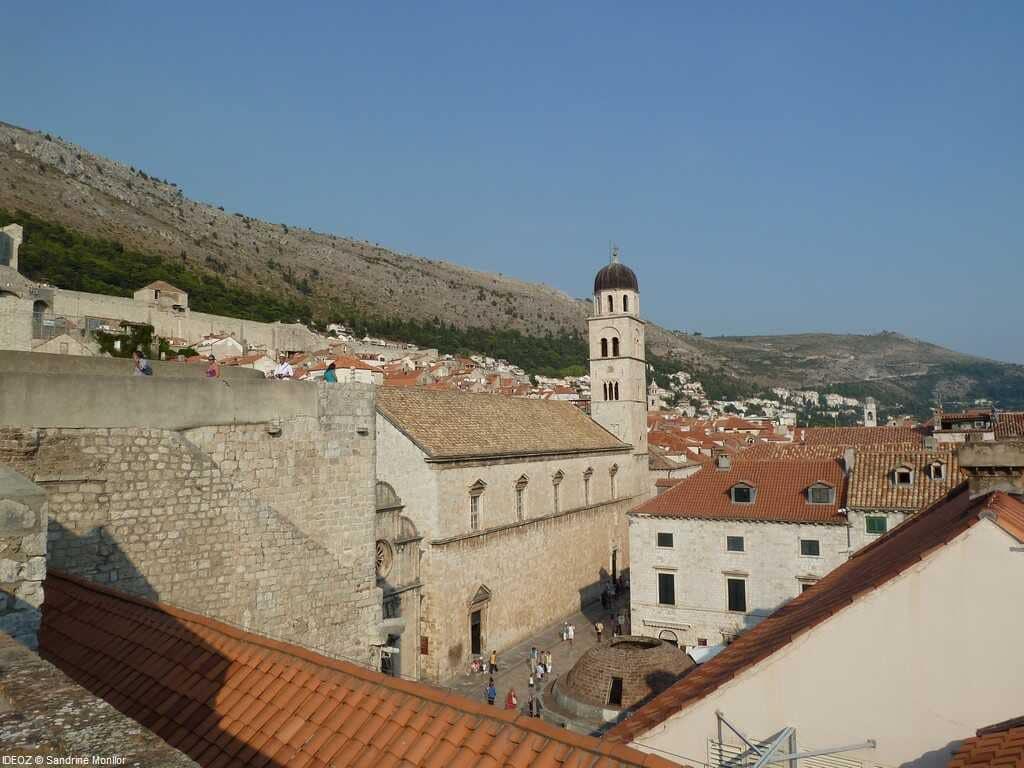 dubrovnik monastere franciscain depuis les remparts