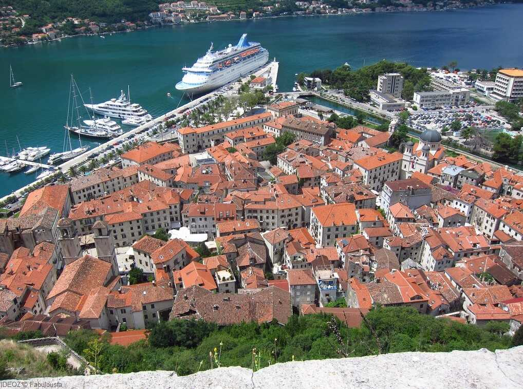 baie de kotor depuis la citadelle