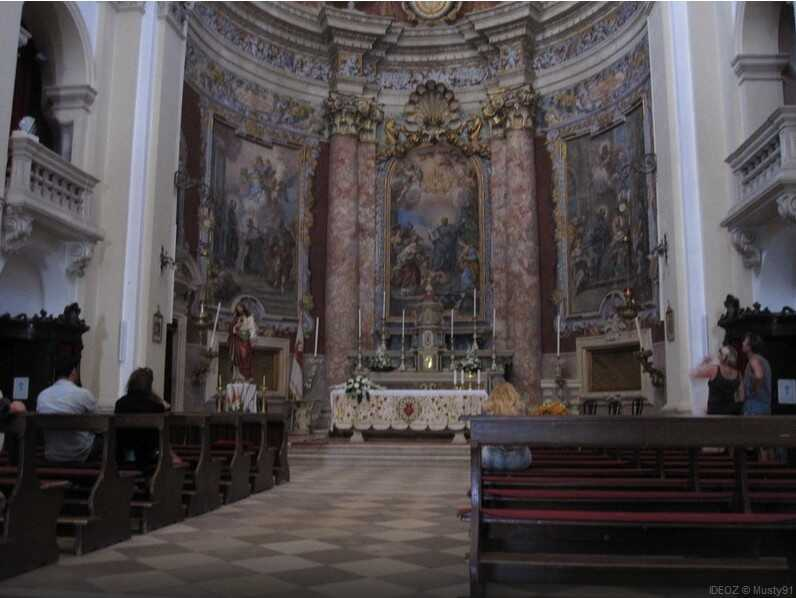 dubrovnik eglise saint ignace de loyola choeur