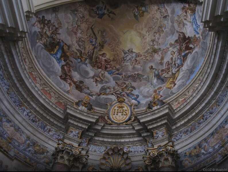 dubrovnik eglise saint ignace de loyola plafond
