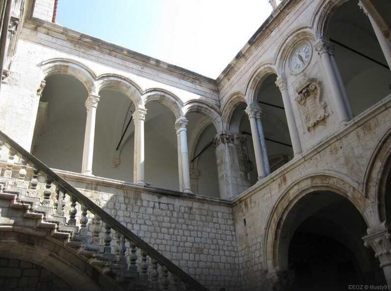 dubrovnik escalier palais du recteur