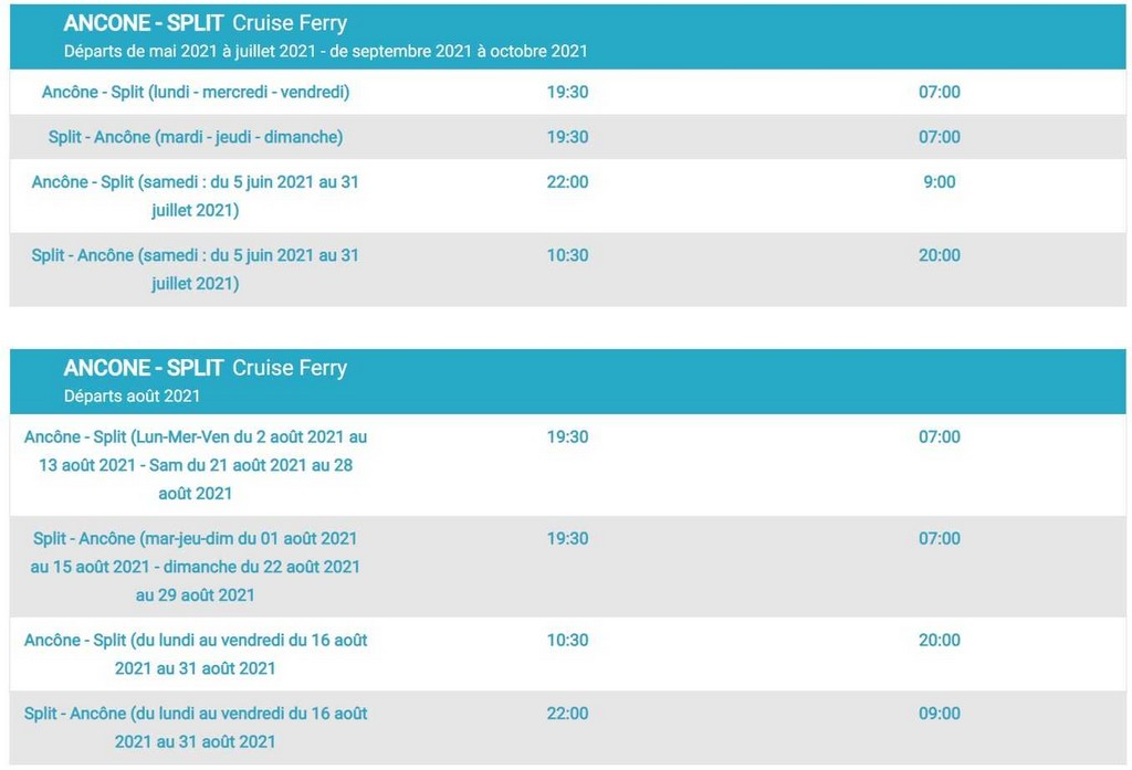 liaisons ferry snav ancone split ancone